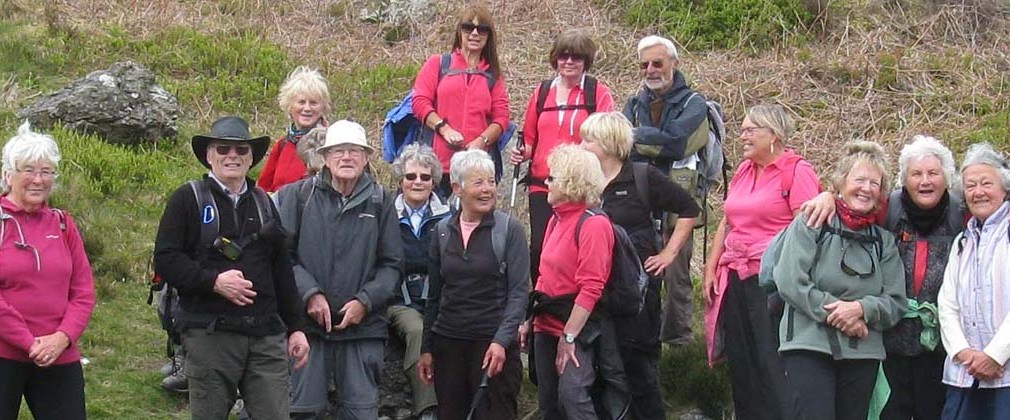 Thursday C walkers in Cwm Buchan. Photo: Nick White.