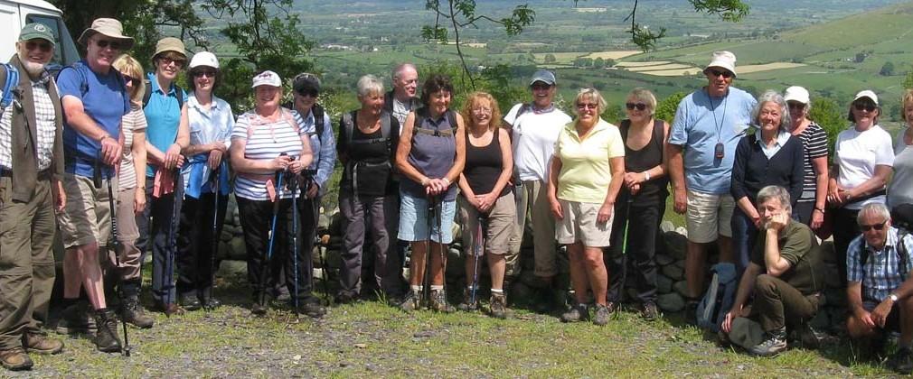 "Thursday walkers, ""Around Clynnogfawr"" 2015.. Photo: Nick white."