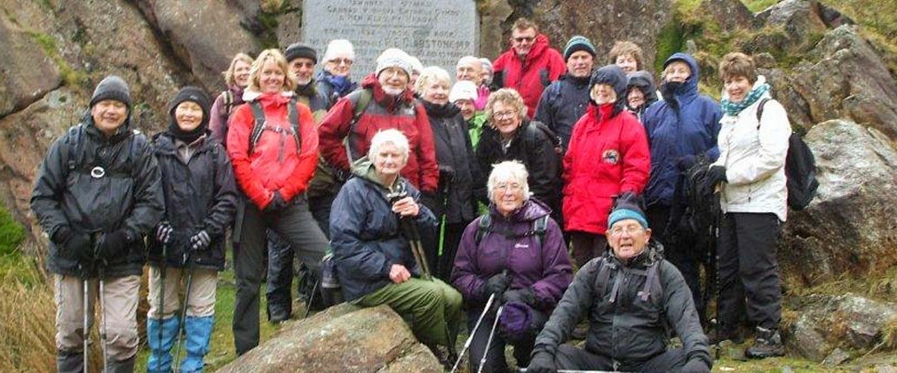 Thursday  walkers at The Gladstone Rock. Photo: Dafydd Williams.