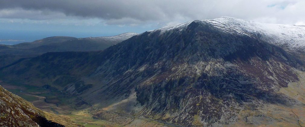 Pen yr Ole Wen from the Devil's Kitchen, above Llyn Idwal.