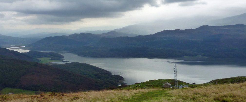 Looking east along Afon Mawddach from Bwlch y Llan